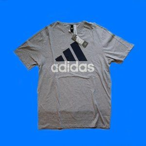 Brand New! adidas front & back logo tee